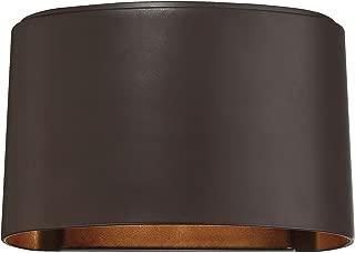 Minka Lavery Modern Outdoor Wall Light 72400-615B-L Everton Exterior Wall Lantern, 1-Light LED 14 Watts, Dorian Bronze