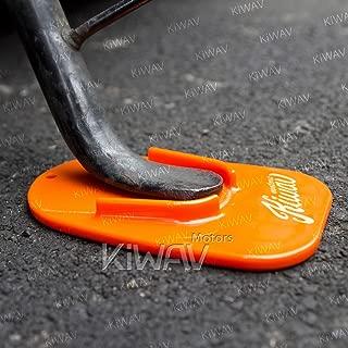 KiWAV Motorcycle Motocross Kickstand pad support orange x1 piece soft ground outdoor parking anti sinking