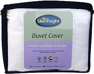 Silentnight Plain White Duvet Cover (260x220cm, 400 Thread Counts)