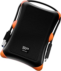 Silicon Power 1TB USB-C USB 3.0 Rugged Portable External Hard Drive HDD Armor A30, Military-Grade Shockproof for PC, Mac and iPad Pro, Black