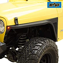 EAG Steel Front Fender with Flair and LED Eagle Lights Fit for 97-06 Jeep Wrangler TJ