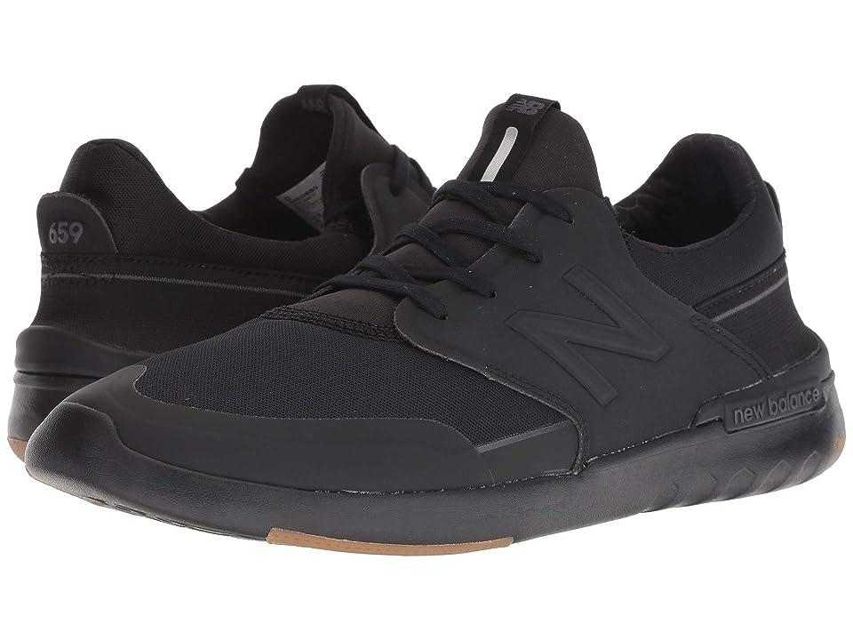 New Balance Numeric AM659 (Black/Gum) Men's Skate Shoes