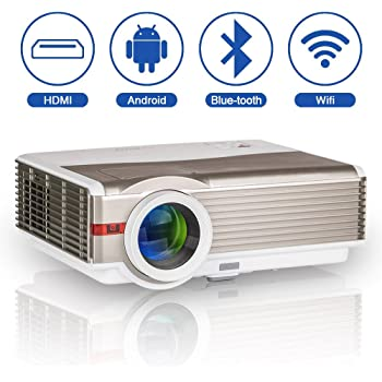 LED LCD Proyector inalámbrico Bluetooth 5000 Lumen WXGA HDMI HD ...