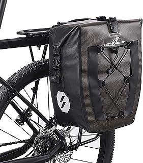 Ajcoflt Bolsa para bicicletas à prova d'água 27L para bicicletas, bolsa para bagageiro de bicicleta, para turismo, compra...