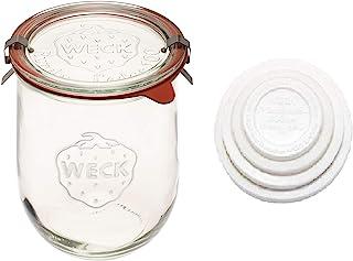 Weck Tulip Jars - Sour Dough Starter Jars - Large Glass Jars for Sourdough - Starter Jar with Glass Lid - Tulip Jar with W...
