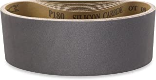 3 X 21 Inch 36 Grit Silicon Carbide Sanding Belts, 8 Pack