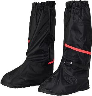 HSeaMall Scarpe Pioggia Impermeabile Copriscarpe Riutilizzabile Stivali di Copriscarpe Antiscivolo con Cerniera Trasparente Taglia S
