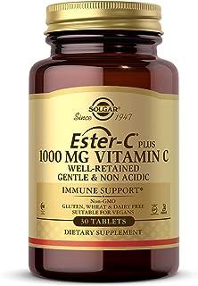 Solgar Ester-C Plus 1000 mg Vitamin C (Ascorbate Complex), 30 Tablets - Gentle On The Stomach & Non Acidic - Antioxidant &...