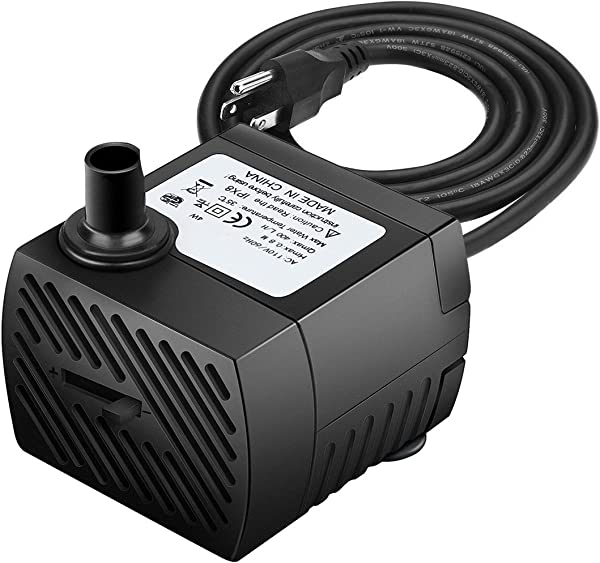 Ideashop Submersible Pump Water Pump Water Fountain Pump 90 GPH 350L H 4W Portable Water Pump Mini Water Pump For Pond Statuary Aquarium Fish Tank Fountain With 5 9ft 1 8m Power Cord Black