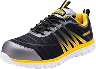 LARNMERN Steel Toe Shoes Men Lightweight Indestructible Safety Work Breathable Sneakers L9106
