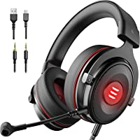 EKSA E900 Pro Gaming Headset Xbox One Headset with 7.1 Surround Sound, PS4 Headset Noise Cancelling Over Ear Headphones...