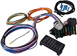 DishyKooker 12 Circuit Universal Wiring Harness Muscle Car Hot Rod Street Rod XL Wires