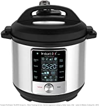 Instant Pot Max Pressure Cooker 9 in 1, Best for Canning with 15PSI, 6 Qt