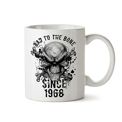 50th Birthday Gifts For Women Men Bad To The Bone 1969 Funny Mugs Novelty Presents