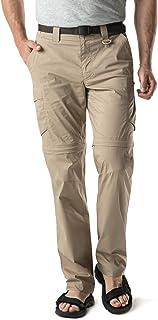 CQR Men's Convertible Pants Zipp Off Stretch Durable UPF 50+ Quick Dry Cargo Shorts Trousers