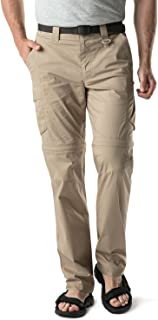 Men's Convertible Pants Zip Off Stretch Durable UPF 50+ Quick Dry Cargo Shorts Trousers