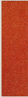 Home Queen Solid Orange Color Custom Size Runner 6