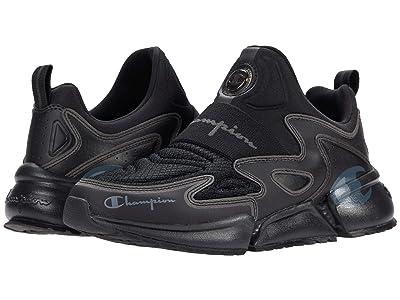 Champion Kids Flex Future Slip-On (Big Kid) (Black/Silver) Kids Shoes