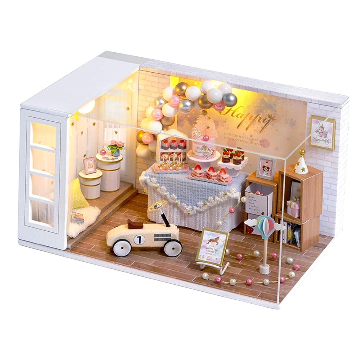 特権リンス嫌がる#N/A 1/24スケール ドールハウス ケーキショップ 木製 お菓子屋 小屋模型 家具セット 工芸品 DIYキット