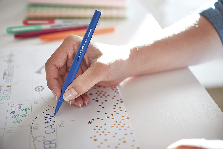 Medium Point Paper Mate Flair Felt Tip Pens 6 Pack Assorted Colors 1897861