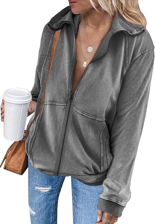 Dokotoo Women's Our shop most popular Full Zip Up Hooded Sleeve Sweatshirt Hoodie Long Ranking TOP11
