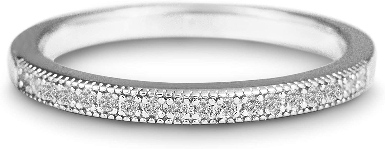 Devin Rose Sterling Silver 1 Large-scale sale 10 Wedding Cttw Ring Diamond f Band depot