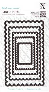 DOCrafts X-Cut Nesting Dies, Large, Scalloped Rectangle
