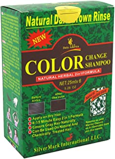 Deity America Natural Herbal 2in1 Formula Color Change Shampoo, Dark Brown Rinse 6 ea (Pack of 3)