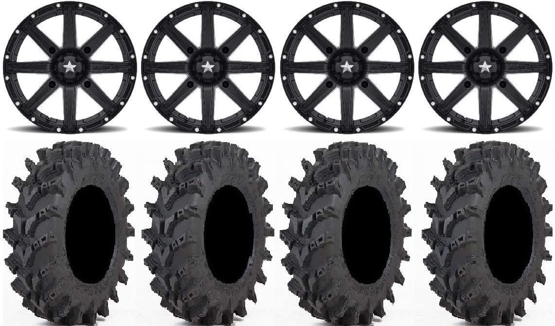 Bundle - 9 Max 41% OFF Items: MSA OFFicial site Black Wheels Clutch 30x9.5 ATV 14