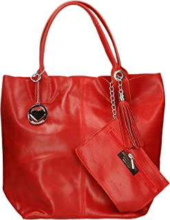 Chicca Borse Bag Borsa a Mano in Pelle Made in Italy 39x36x20 cm