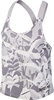 Nike Women's NP Forest Camo ELASTIKA Tank, Black(Atmosphere Grey/Atmosphere Grey/Black059), Small