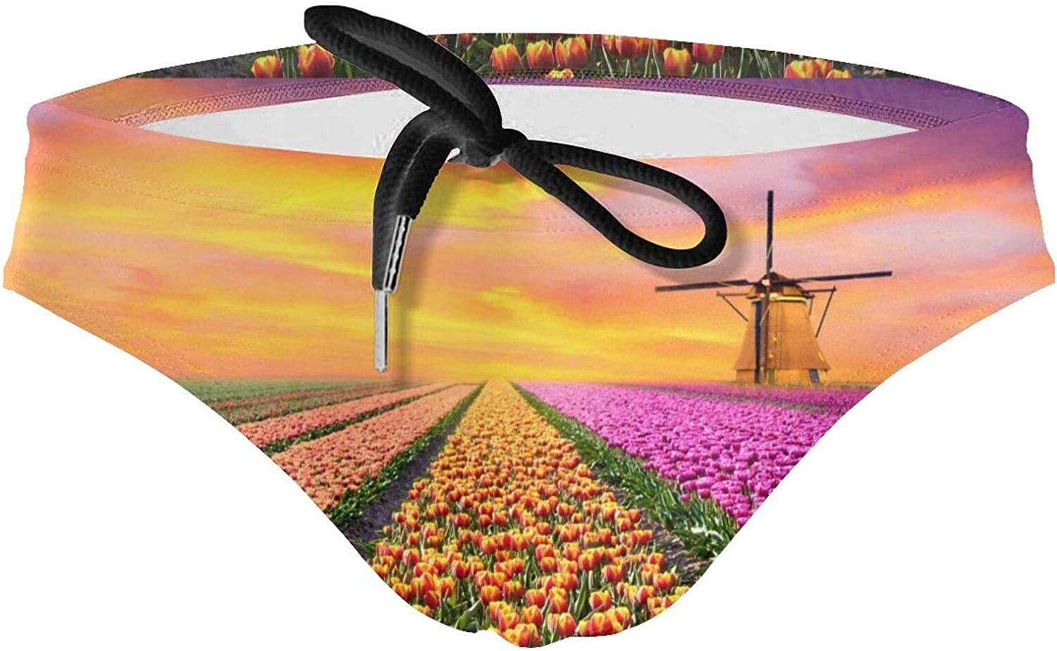 Sunrise Over Cash special price Tulip Fields New 25% OFF Comfor and Briefs Breathable Men's