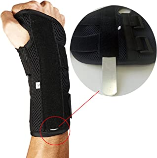 FITTOO Adjustable Double Straps Carpal Tunnel Wrist Brace Support Sleep Brace with Splintfor Sports, Sprains, Arthritis and Tendinitis Single Left and Right