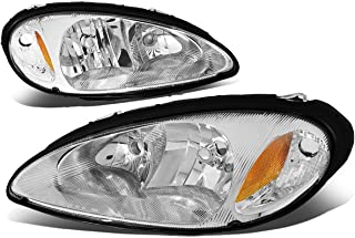 Pair of Chrome Housing Amber Corner Headlight Lamp for Chrysler PT Cruiser 01 02 03 04 05