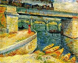 AED200-8K Hand Painted by College Teachers - 26 van Gogh Paintings - Bridges across the Seine at Asnieres Vincent van Gogh LEWE4 - Art Oil Painting on Canvas -Size05