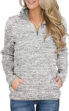 Acelitt Women's Long Sleeve High Collar 1/4 Zip Pullover Sweatshirt with Pocket(5 Color,S-XXL)