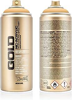 Montana 284229 Cans Creme Orange Acrylic Spray Paint, 400ml