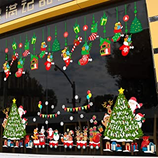 Thanksgiving Christmas Window stickers nowflake Christmas tree Christmas decorations Christmas Christmas window sticker Christmas glass sticker Christmas decoration Christmas electrostatic stickers Ch