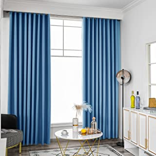 Curtains Blackout 100% Bedroom, Insulated Draperies, Full Shading Curtain Privacy Assured Window Treatment - Thermal Backi...