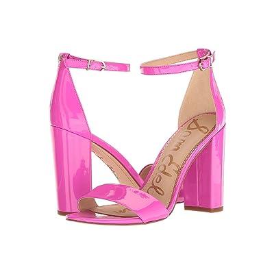 Sam Edelman Yaro Ankle Strap Sandal Heel (Neon Fuchsia Patent) Women