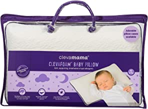 ClevaMama ClevaFoam Baby Pillow - Breathable Infant Pillow to Prevent Flat Head Syndrome 0-12 month