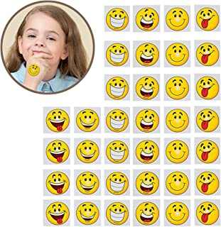 Kicko Emoji Tattoos - Pack of 36-2 Inches Assorted Goofy Smiley Face Cool Emoticon Face Tattoo - for Kids - Party Favors, Bag Stuffers, Fun, Prize