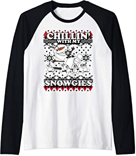 Disney Frozen Olaf Chillin' With My Snowgies Sweater Style Manche Raglan