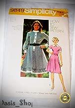Vintage Simplicity 9849 Retro Dress Pattern Ruffle a-line Peter pan Size 16 - Ribbon Lyrical Dance Costumes, Sashes, Headbands