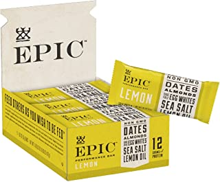 Epic Provisions EPIC Performance Bar Lemon, 16.83 Ounce, 9 Count (Pack of 1)