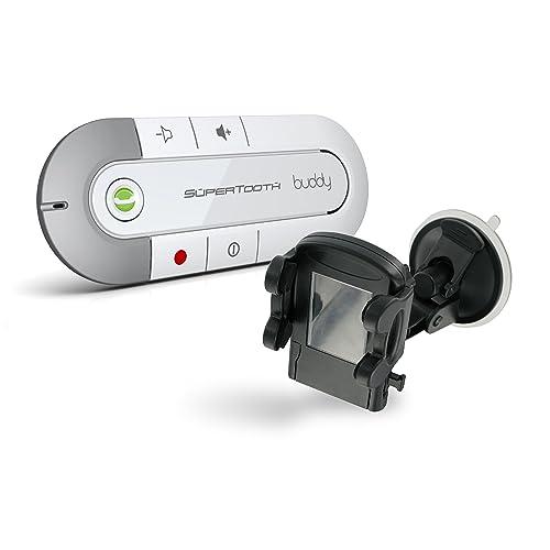 Supertooth BTBUDDYWHHOL Kit mains-libres avec Bluetooth pour Téléphone Portable Blanc