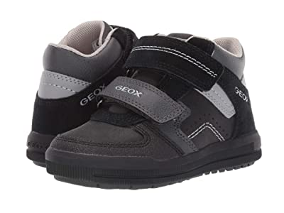 Geox Kids Jr Arzach 16 (Toddler) (Black/Dark Grey) Boys Shoes