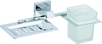 Bathroom Combo Soap Stand and Tumbler Holder Wall Mounted Blume EMBROS FITTINGS EMBROS Combo Soap Dish and Tumbler Holder