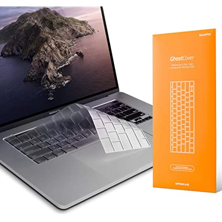 """UPPERCASE GhostCover Premium Ultra Thin Keyboard Cover Protector Compatible with 2020 MacBook Pro 13"""" and 2019 2020 MacBook Pro 16"""" with Model Number A2338 A2289 A2251 A2141 M1 Chips"""