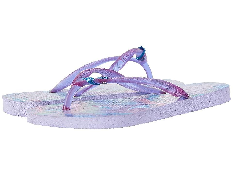 Havaianas Kids Slim Summer Flip-Flop (Toddler/Little Kid/Big Kid) (Lavender) Girls Shoes